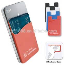 cell phone business card holder oem wholesale promotional fashionable silicone mobile pocket smart phone wallet soft silicone