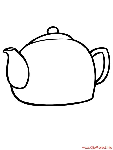 Teapot Coloring Page For Free Teapot Coloring Page