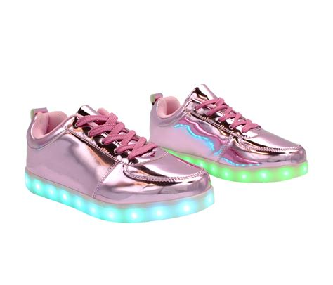 Led Shoes Kets Cewe 37 42 galaxy led shoes light up usb charging low top men s sneakers pink glossy galaxy led shoes
