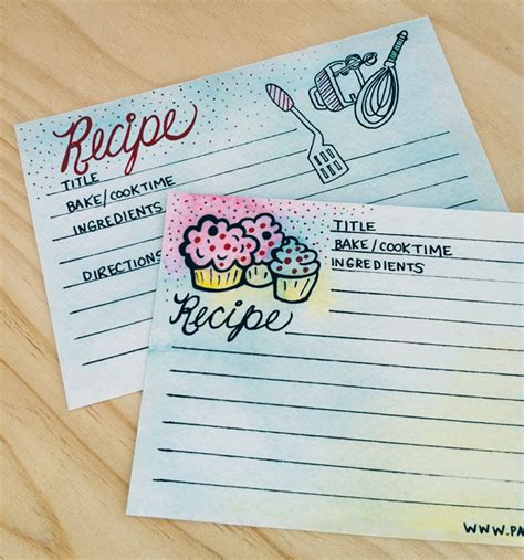 printable recipe card paper 25 free printable recipe cards home cooking memories