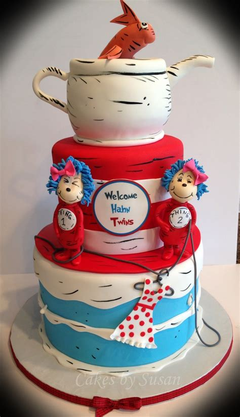 Thing 1 Thing 2 Baby Shower by Thing 1 And Thing 2 Baby Shower Cake For