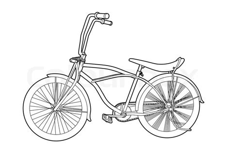 Road Bicycle Outline by Outline Bicycle Stock Vector Colourbox