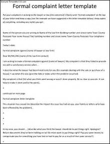 Complaint Letter About An Employee Template Complaint Letter Format Against Employee Sle Templates