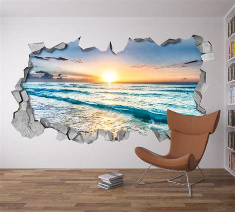 3d Wall Sticker 232592047 1 sunset broken wall decal 3d wallpaper 3d wall decals 3d