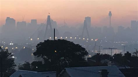 sydney smoke city shrouded  smog  nsw rural fire service hazard reduction burns