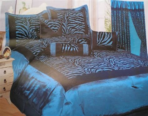 blue zebra print comforter set king size blue black zebra print bed in a bag safari