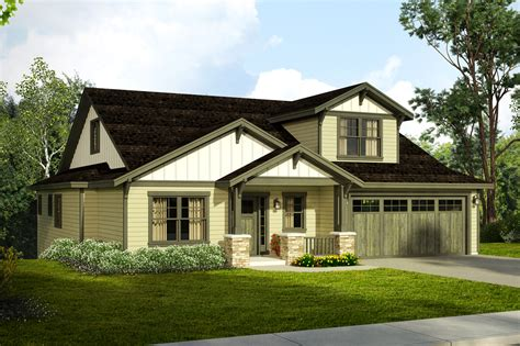 craftsman home plans new craftsman house plan for a downhill sloped lot