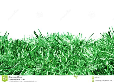 green tinsel stock photography image 35382712