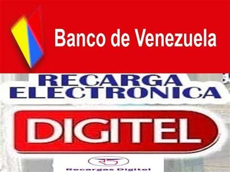 banco de venezuela youtube banco de venezuela como realizar recarga digitel por