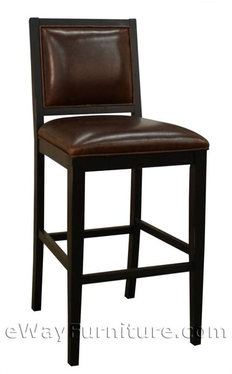Black Leather Counter Height Chairs 2 Betheny Brown Bonded Leather And Black Wood 24 Quot Counter