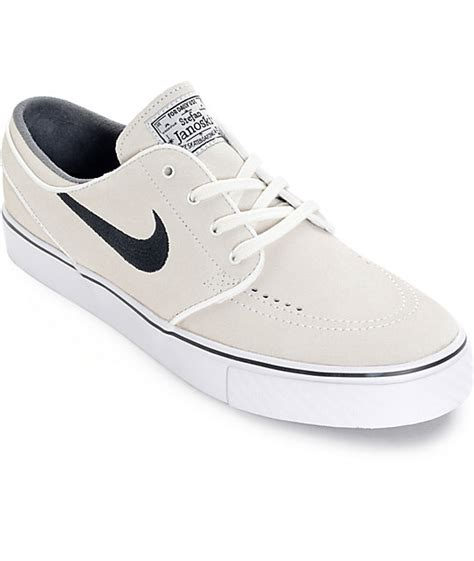 nike sb zoom stefan janoski summit white and black skate