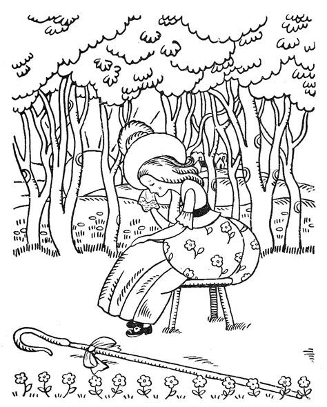 little bo peep coloring pages az coloring pages