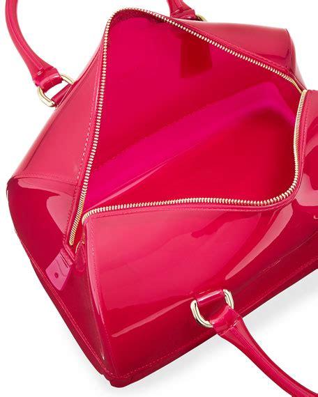 Furla Jelly Medium furla medium satchel bag bright pink
