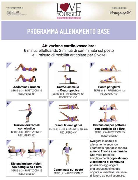 scheda allenamento a casa schede allenamento in menopausa menopausaok