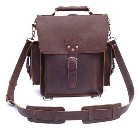 Rugged Computer Backpack by Vintage Rugged Leather Backpack Messenger Bag Briefcase