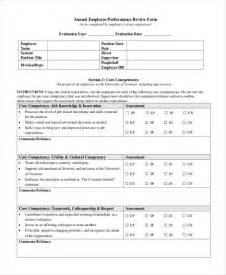 Annual Performance Review Template by Sle Annual Performance Review Khafre
