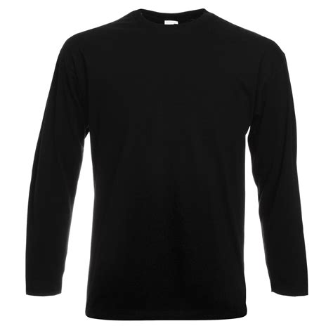 Tshirt Longsleeve fruit of the loom mens valueweight crew neck sleeve t