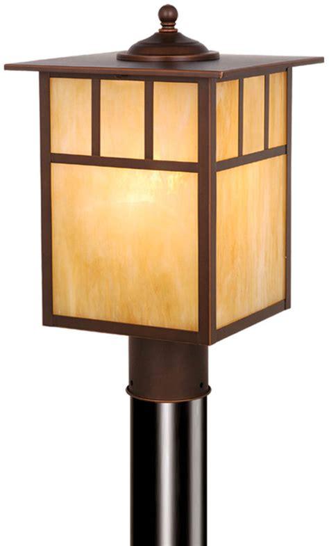 Craftsman Lighting Fixtures Vaxcel Op37295bbz Mission Craftsman Burnished Bronze Finish 9 Quot Wide Outdoor Post Light Fixture