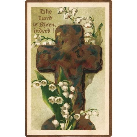 Vintage Easter Figurine Shop Collectibles - of the valley cross antique easter postcard from