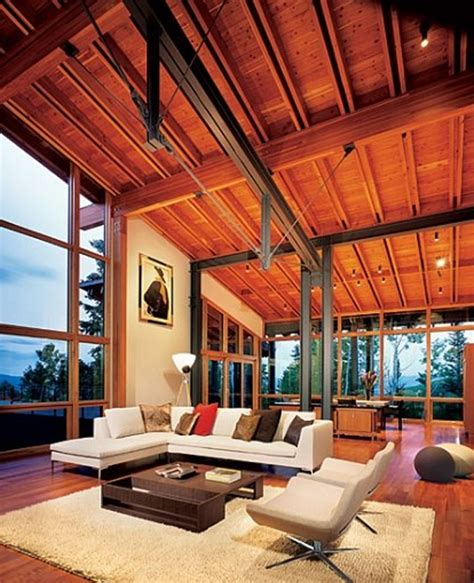 wooden house decorations  nature  peter bohlin