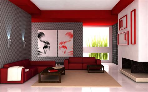3d red and gray living room wallpaper 32693