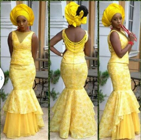 aso ebi styles yellow 97 best images about yellow nigerian weddings on pinterest