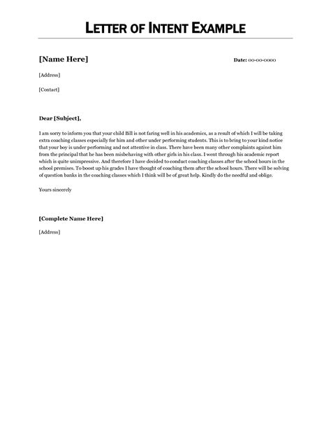 Letter Of Intent Template Employment Doc 12751650 Letter Of Intent Business Partnership Business Invoice Template Bizdoska