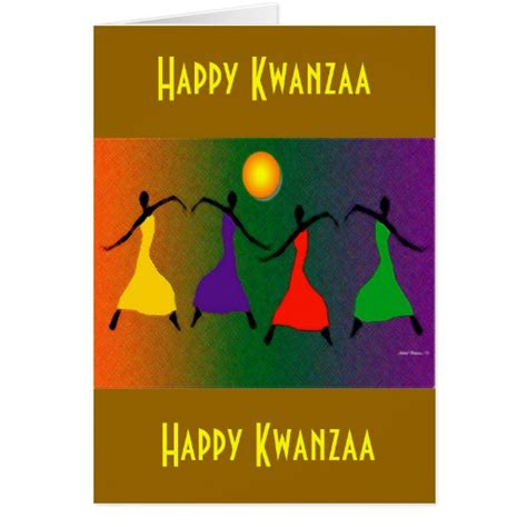 kwanzaa greeting cards printable happy kwanzaa greeting cards zazzle