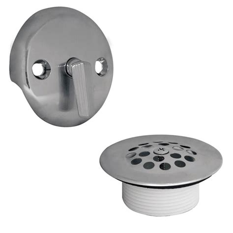 bathtub drain kit trip lever tub drain trim kit with overflow in chrome danco