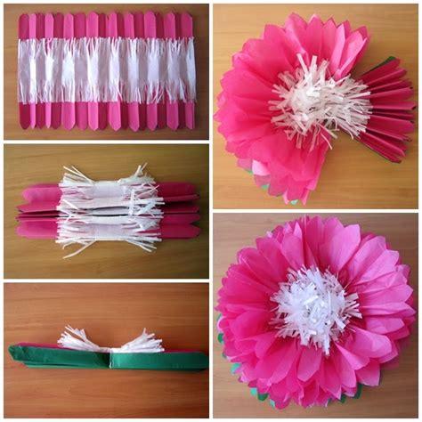 Flores En Papel Seda Paso A Paso | flores en papel de seda paso a paso imagui