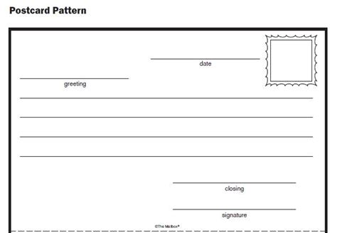 pattern report writing homeschool parent post card pattern
