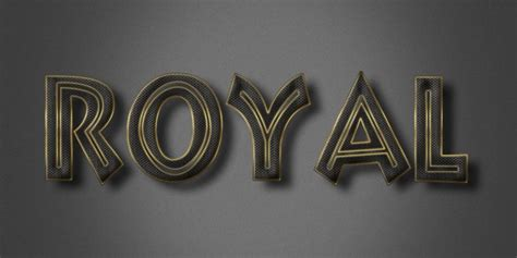 royal text effect psd photoshop file all design creative