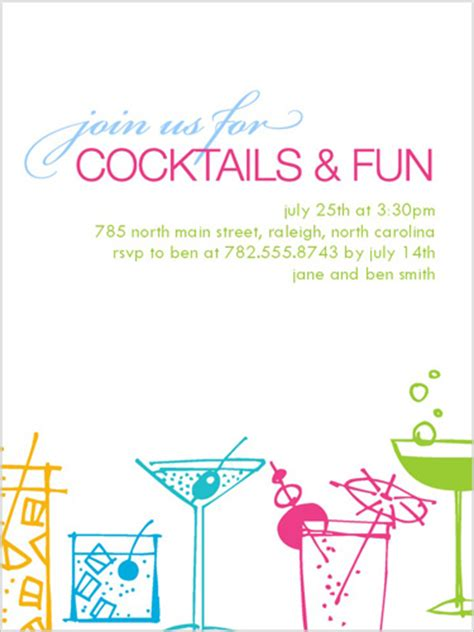 cocktail invitation templates time for cocktails 4x5 invitation card invitations