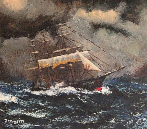 imagenes de barcos en tempestades barco durante una tempestad cuadro original 211 leo sobre