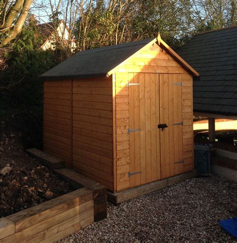 8 x 6 security tongue and groove shed 12mm tongue and