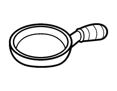Coloring Pages Pan frying pan coloring page coloringcrew