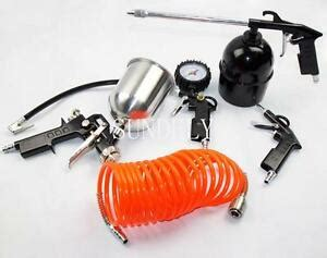 Delta Air Compressor Accessories Spray Gun by 5 Pc Compressor Air Accessory Tool Kit Gun Hose Gravity Spray Uk New Ebay