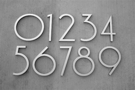 Modern Numbers Font