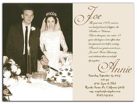 50th wedding anniversary templates invitations announcements