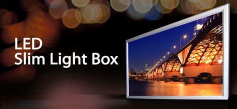 slim light box led led slim light boxes bandis vision