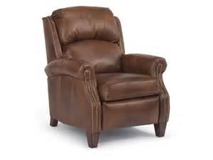 flexsteel living room leather high leg recliner 3056 503