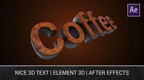 tutorial after effect text 3d nice 3d text element 3d v2 after effects tutorial