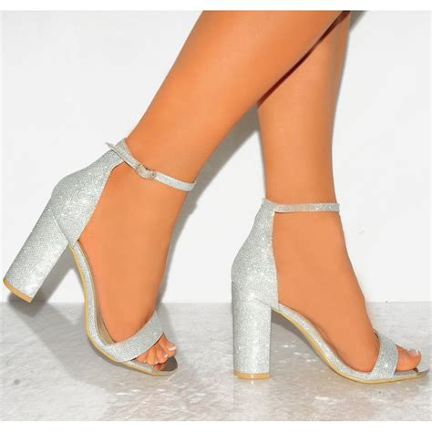Hight Hells Silver heels silver glitter is heel