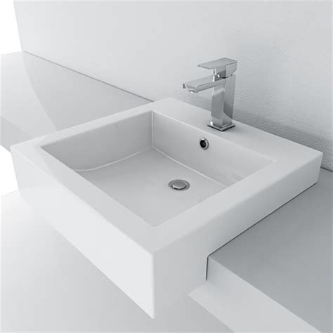 semi recessed bathroom sink filament design cantrio semi recessed bathroom sink in