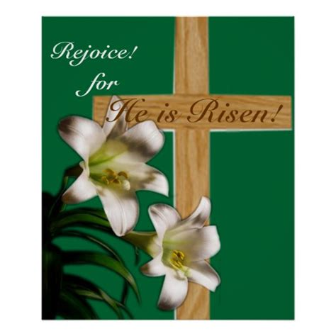 posters for easter religious easter poster print he is risen zazzle