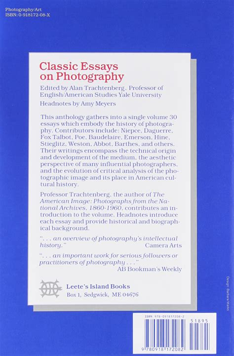 Classic Essays On Photography Trachtenberg Pdf by Classic Essays On Photography Trachtenberg Pdf Bamboodownunder