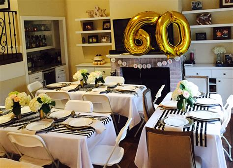 60th birthday table golden celebration 60th birthday party ideas for mom
