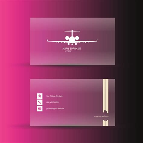 pink business card template pink business cards template design vector 05 vector