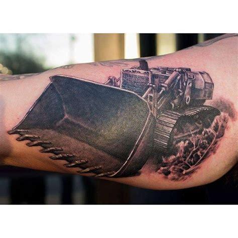 tattoo artist equipment heavy equipment tattoo of a bulldozer done by john kautz