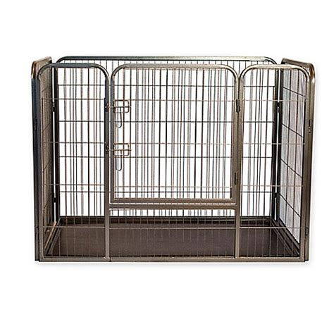 36 inch crate buy heavy duty 36 inch pet kennel crate in grey from bed bath beyond